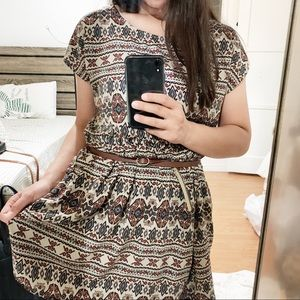 FOREVER 21 Tunic High Low Boho Dress